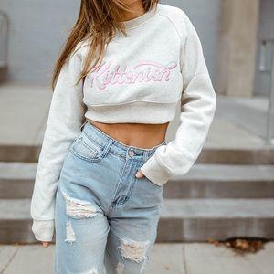 Kittenish cropped sweatshirt
